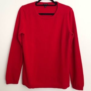 EUC Talbots Red 100% Cashmere Sweater